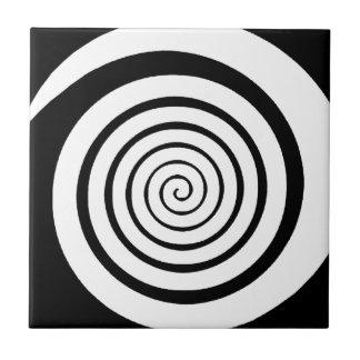 hypnotic spiral tiles