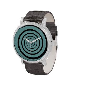 hypnotic spiral time wristwatch