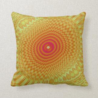 Hypnotic Spirals Throw Pillow