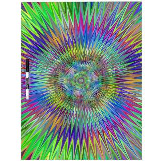 Hypnotic Star Burst Fractal Dry Erase Board