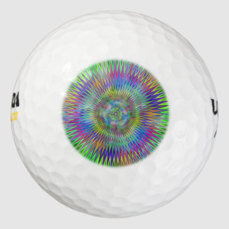 Hypnotic Star Burst Fractal Golf Balls