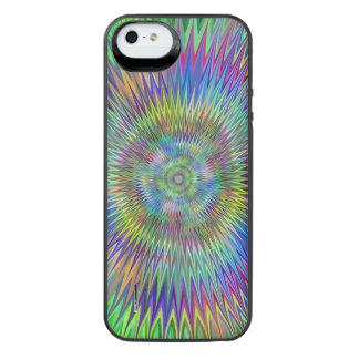 Hypnotic Star Burst Fractal iPhone SE/5/5s Battery Case