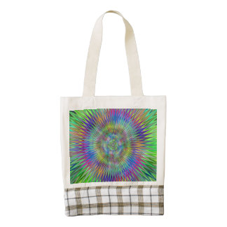 Hypnotic Star Burst Fractal Zazzle HEART Tote Bag