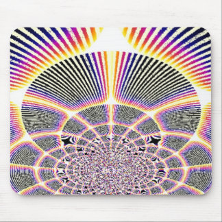 Hypnotic stripes mouse pad