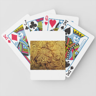 hypnotic swirl bicycle playing cards