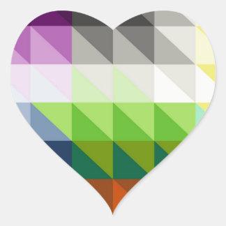 Hypnotic Triangles Heart Sticker