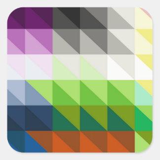 Hypnotic Triangles Square Sticker