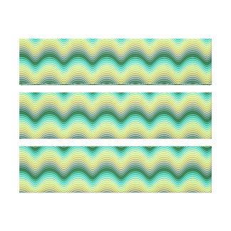 Hypnotic waves canvas print