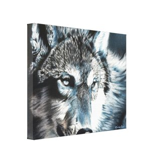 Hypnotic Wolf Canvas Print