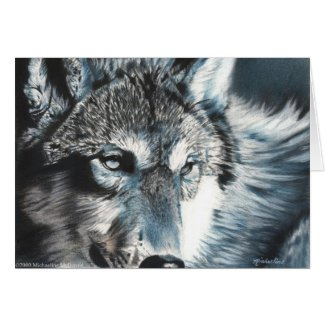 Hypnotic - Wolf Greeting Card