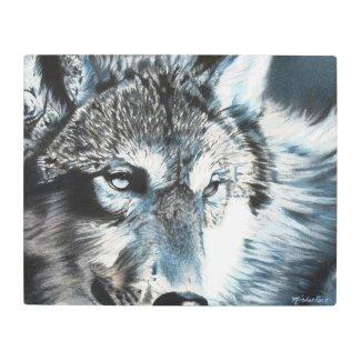 Hypnotic Wolf Metal Print