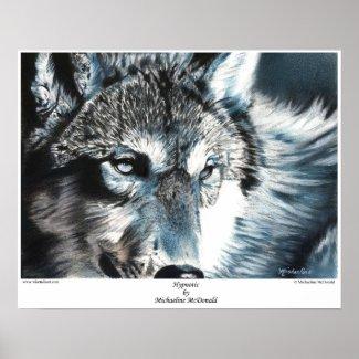 Hypnotic Wolf Poster