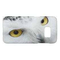 Hypnotic Yellow Eyes of a Snowy White Owl Samsung Galaxy S7 Case