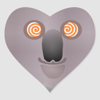 hypnotickoala heart sticker