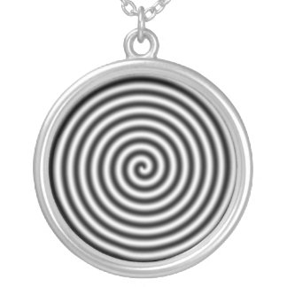 hypnotising silver plated necklace