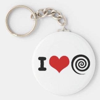 Hypnotism Basic Round Button Keychain