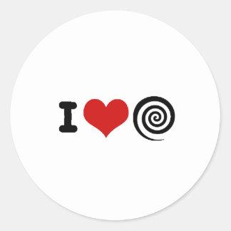 Hypnotism Classic Round Sticker