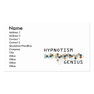 Hypnotism Genius Business Cards
