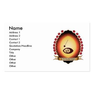 Hypnotism Mandorla Business Card Templates