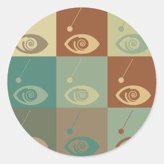 Hypnotism Pop Art Classic Round Sticker