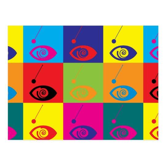 Hypnotism Pop Art Postcard