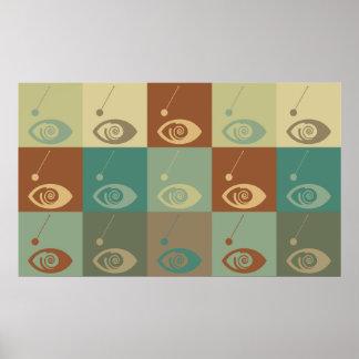 Hypnotism Pop Art Poster