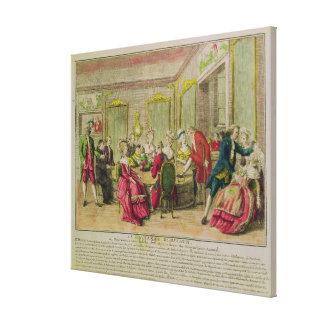 Hypnotism Session with Franz Anton Mesmer  1784 Canvas Print
