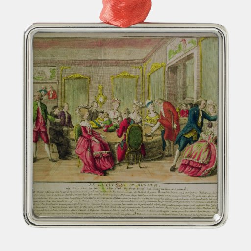 Hypnotism Session with Franz Anton Mesmer  1784 Square Metal Christmas Ornament
