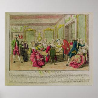 Hypnotism Session with Franz Anton Mesmer  1784 Poster