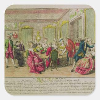 Hypnotism Session with Franz Anton Mesmer  1784 Square Sticker