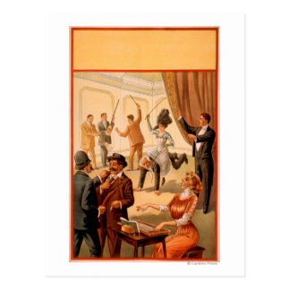 Hypnotist controlling room of People Theatre Postcard