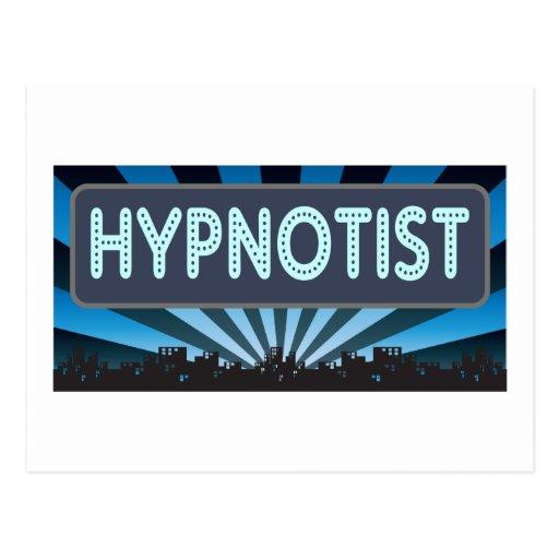 Hypnotist Marquee Postcard
