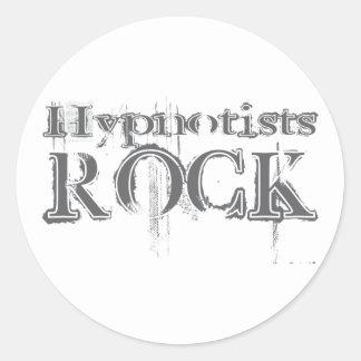Hypnotists Rock Round Stickers