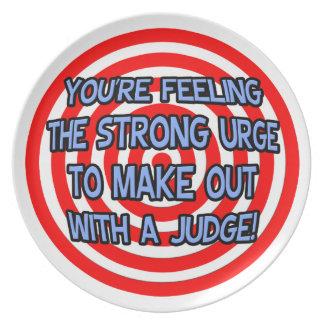 Hypnotize .. Funny Judge Party Plates