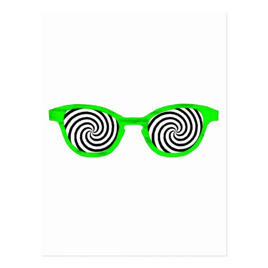 Hypnotize Sunglasses Green Rim The MUSEUM Zazzle G Postcard