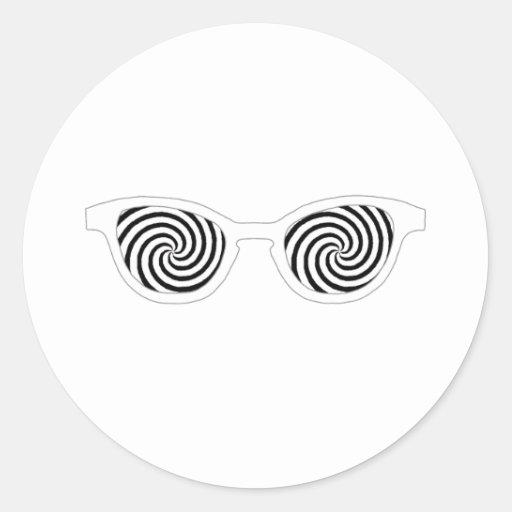 Hypnotize Sunglasses White Rim The MUSEUM Zazzle G Classic Round Sticker