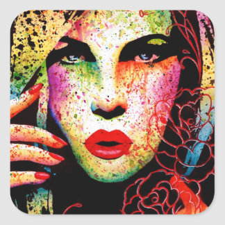 Hypnotized by Carissa Rose Square Sticker