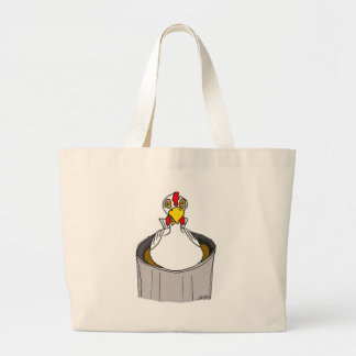 ;Hypnotized Chicken Tote Bags