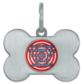 Hypnotized .. Funny Accountant Pet Name Tag