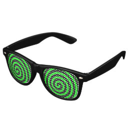 Hypnotized Green Black Retro Sunglasses