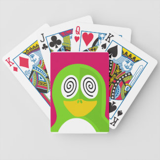 Hypnotized Penguin Bicycle Playing Cards