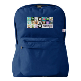 Hypnotized Pets Backpack, Navy American Apparel™ Backpack