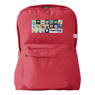 Hypnotized Pets Backpack, Red Backpack