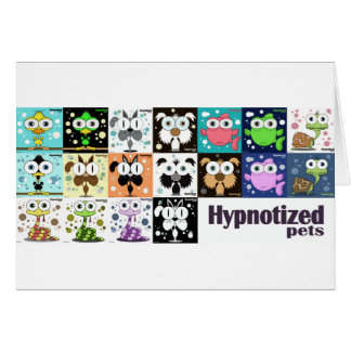 Hypnotized Pets Card, white envelopes included Card