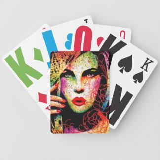Hypnotized - Pop Art Portrait Bicycle Playing Cards