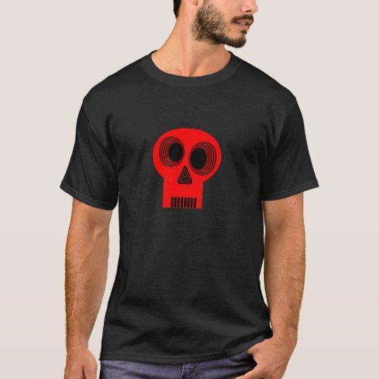 Hypnotized Red Skull T Shirt