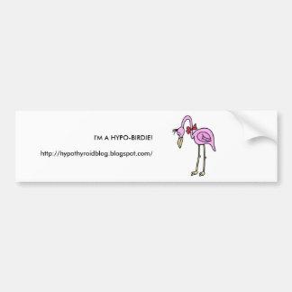 HYPO-BIRDIE BUMPER STICKER