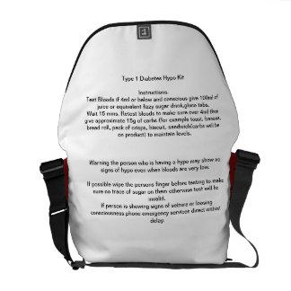 Hypo Kit bag for type 1 diabetes Messenger Bag