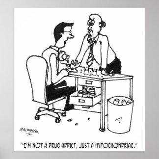Hypochondriac Cartoon 3104 Poster