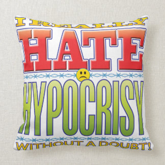 Hypocrisy Hate Face Pillows